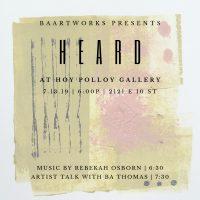 HEARD Artist Exhibition