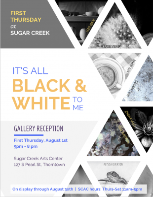 """It's All Black & White to Me"" / August at SCAC / Upper Gallery"