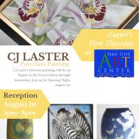 SCAC Featured Artist CJ Laster, porcelain painter