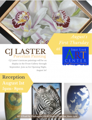 SCAC Featured Artist CJ Laster, porcelain painter