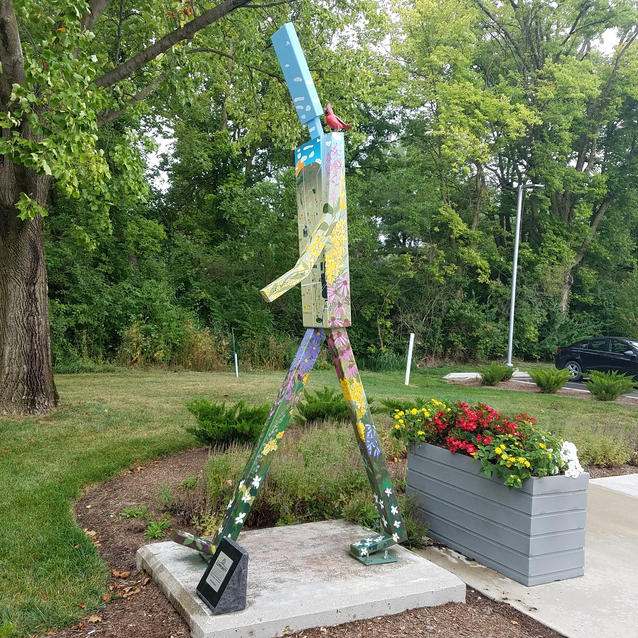 Walking Man Zionsville Indyartsguide Org Images, Photos, Reviews