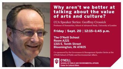 CCA Speaker Series - Geoffrey Crossick