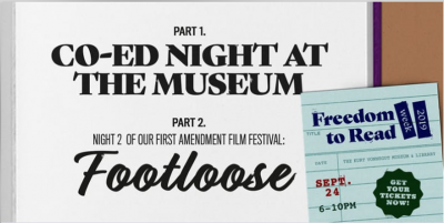 "Co-Ed Night at the Museum + ""Footloose"" @ KVML Freedom to Read Week"