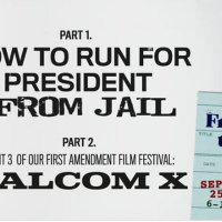 """How to Run for President from Jail +""""Malcolm X"""" @ KVML Freedom to Read Week"""