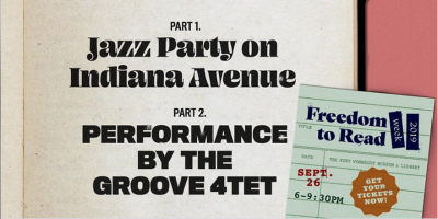 Jazz Party on Indiana Avenue + The Groove 4tet @ KVML Freedom to Read Week