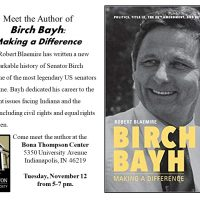 Book Signing. Robert Blaemire author of Birch Bayh: Making a Difference