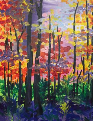 """Canvas Painting Party """"Radical Rainforest"""""""