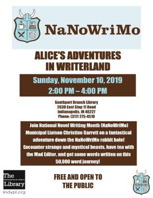 Alice's Adventures in Writerland with Christine Garrett