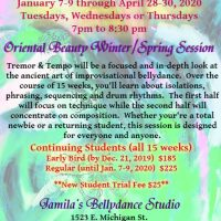 Tremor & Tempo (Winter/Spring 2020 Bellydance Session)