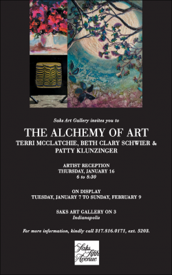 The Alchemy of Art featuring Terri McClatchie, Beth Clary Schwier and Patty Klunzinger