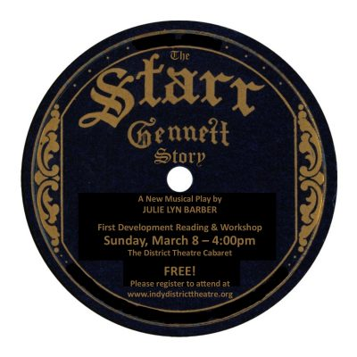 Reading & Development Workshop for THE STARR-GENNETT STORY, A New Musical Play