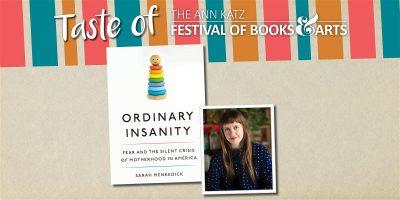 Author Sarah Menkedick: Virtual Event
