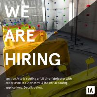 Ignition Arts Seeks Fabricator