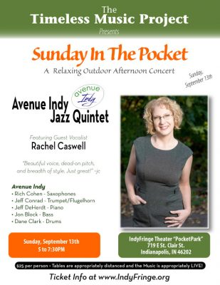 Sunday at the Pocket: Avenue Indy Jazz Quintet with Rachel Caswell