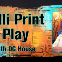 Gelli Print Play with DG House (Cherokee of NE Alabama)