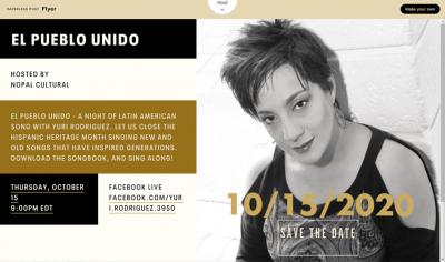 El Pueblo Unido: A Night of Latin American Song with Yuri Rodriguez