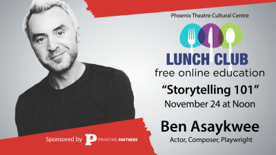 """Lunch Club """"Storytelling 101"""" Free Class with Ben Asaykwee"""
