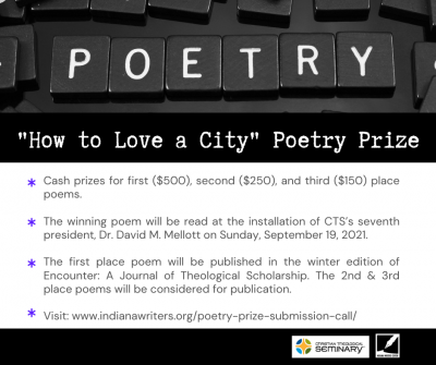 """Christian Theological Seminary and Indiana Writers Center seek submissions for """"How to Love a City"""" a poetry prize"""