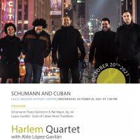 Ensemble Music Society presents Harlem Quartet with Aldo López-Gavilán