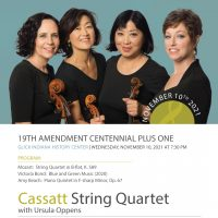 Ensemble Music Society presents Cassatt Quartet with Ursula Oppens