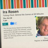 Ira Rosen interviewed by Angela Brauer - Ticking Clock - Ann Katz Festival