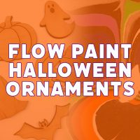 Flow Paint Halloween Ornaments