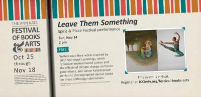 Leave Them Something - Ann Katz Festival of Books and Arts