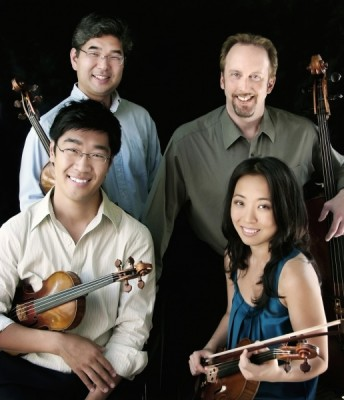 Johannes Quartet with NPR Performance Today host Fred Child