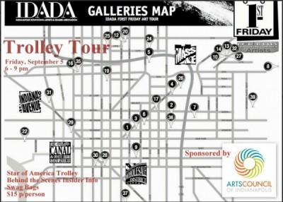 IDADA First Friday Gallery Trolley Tour