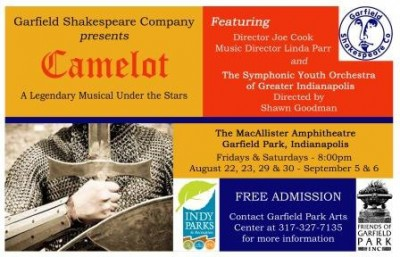 "Garfield Shakespeare Company presents Lerner & Loewe's ""Camelot"""