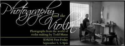 Artist Reception: PHOTOGRAPHY & THE VIOLIN