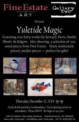 Yuletide Magic art open house