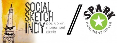 Social Sketch Indy: Monument Circle