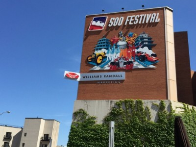 100th Running Celebration Mural at the 500 Festival